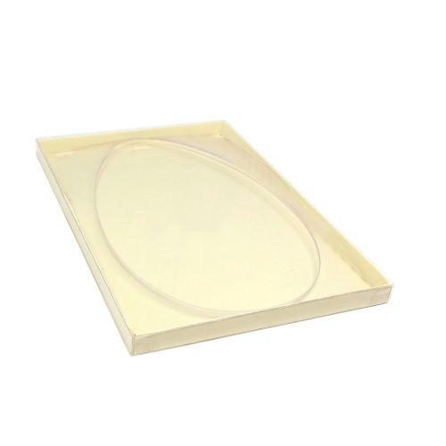 Caixa para Ovo Plano de Barra Baixo Grande Marfim (5 uni) - Mimo