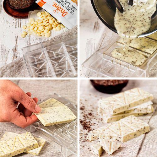 Forma de Chocolate em Policarbonato Tablete/Barra Tartaruga - Decora