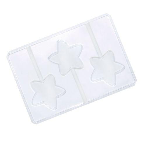 Forma em PVC - Pirulito Estrela (5 uni) - Cristal Formas