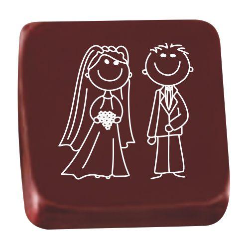 Transfer para Chocolate (40 x 30cm) - Noivinhos Branco