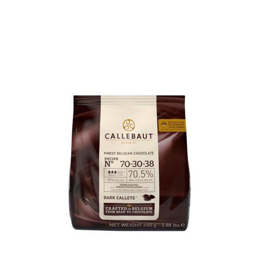 Chocolate Callebaut Amargo 70,5% Cacau nº 70-30-38 em Callets (400g) - Callebaut