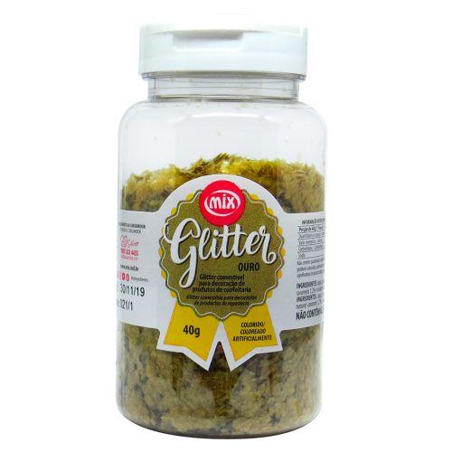 Glitter Comestível em Flocos Ouro (40g) - Mix
