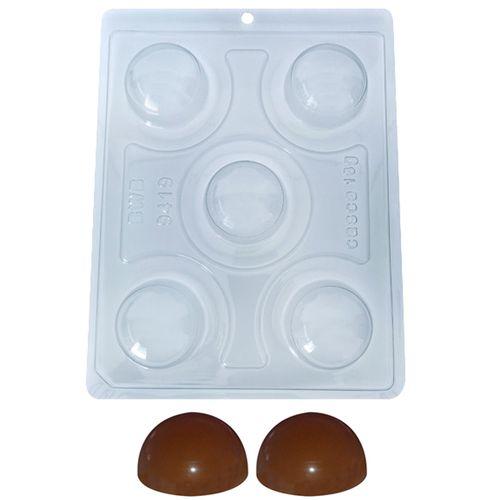Forma de Chocolate Acetato com Silicone Esfera de 5,0cm - BWB