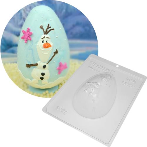 Forma de Chocolate Ovo de Páscoa Acetato e Silicone Frozen Olaf 350g - BWB Disney
