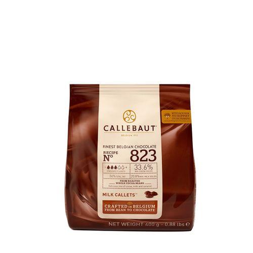 Chocolate Callebaut ao Leite 33,6% Cacau nº 823 em Callets (400g) - Callebaut