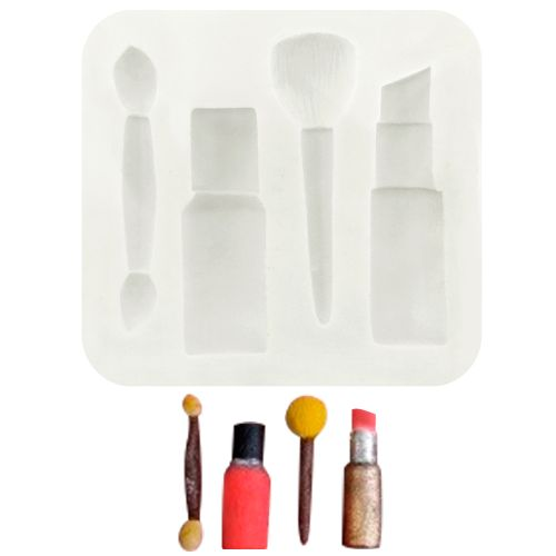 Molde de Silicone Kit Maquiagem - Gummies