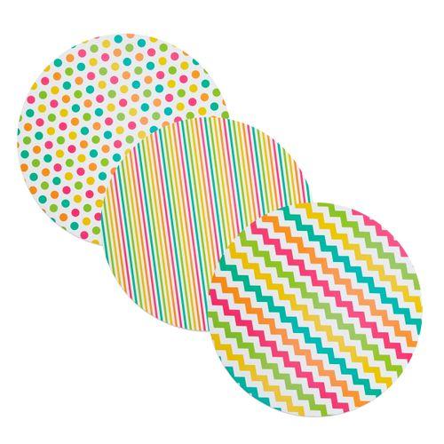 Discos de Papelão Decorados - Wilton