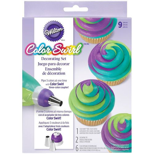 Kit Adaptador Tricolor ColorSwirl 3 Color Coupler Decorating Kit - Wilton