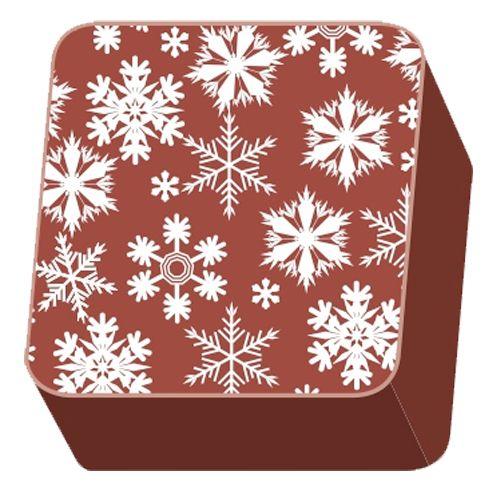 Transfer para Chocolate (40 x 30cm) - Flocos de Neve Branco