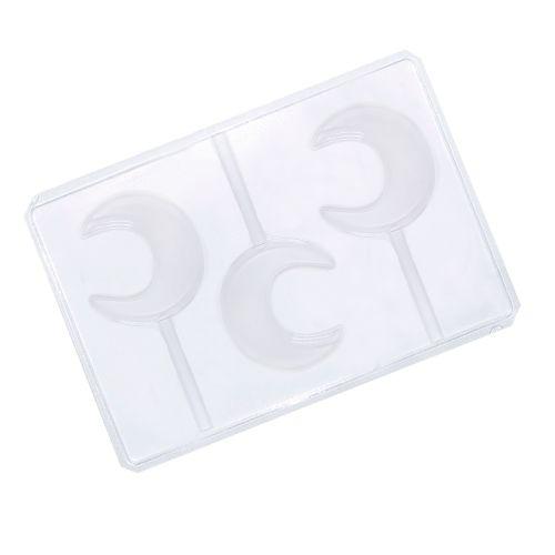 Forma em PVC - Pirulito Lua (5 uni) - Cristal Formas