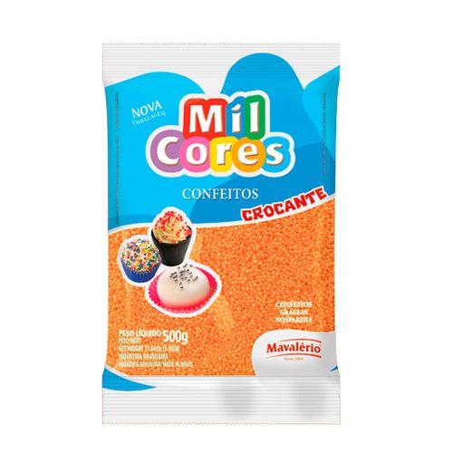 Confeito Miçanga Mil Cores n°0 (500g) - Laranja