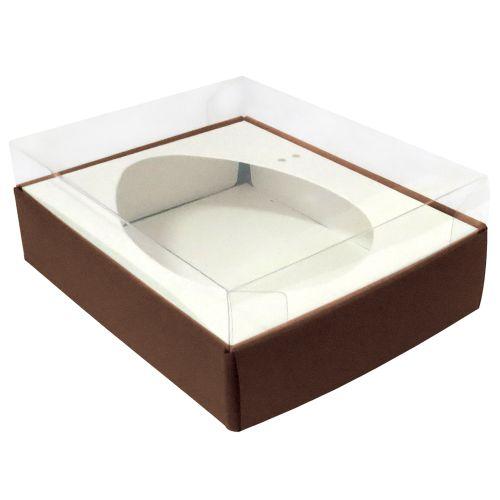 Caixa Ovo de Colher 350/400g Marrom (5uni) - ArtCrystal