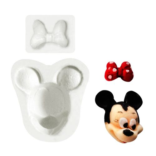 Molde de Silicone Minnie, Mickey - Gummies