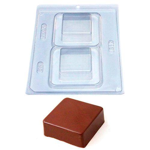 Forma de Chocolate Acetato com Silicone Pão de Mel Quadrado - BWB