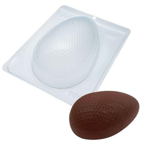 Forma de Chocolate Ovo de Páscoa Acetato e Silicone Textura Bolinhas 500g - BWB
