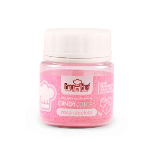 Corante Lipossolúvel em Pó para Chocolate Rosa Chiclete Candy Colors (5g) - Gran Chef