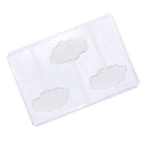 Forma em PVC - Pirulito Nuvem (5 uni) - Cristal Formas