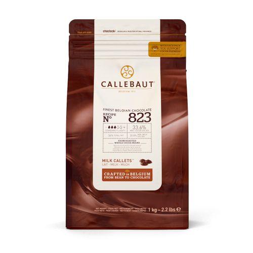 Chocolate Callebaut ao Leite 33,6% Cacau nº 823 em Callets (2,5kg) - Callebaut
