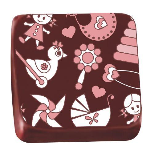 Transfer para Chocolate (40 x 30cm) - Brinquedos Rosa