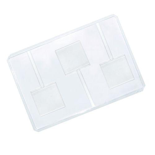 Forma em PVC - Pirulito Quadrado (5 uni) - Cristal Formas