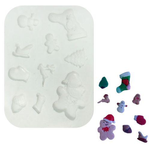Molde de Silicone Vários Natal- Gummies