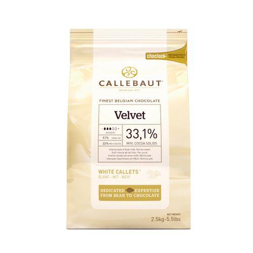 Chocolate Callebaut Branco Velvet 33,1% Cacau em Callets (2,5kg) - Callebaut