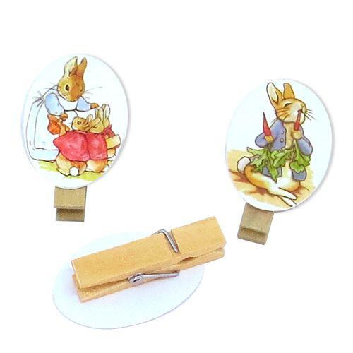 Enfeite Mini Pregador Peter Rabbit (8uni) - Papel Confeito