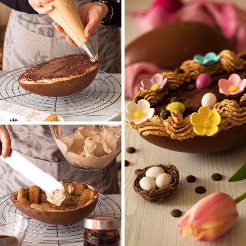 Forma de Chocolate em Policarbonato Ovo de Páscoa 70g - Decora