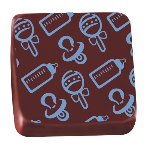 Transfer para Chocolate (40 x 30cm) - Bebê Azul