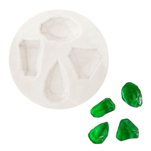 Molde de Silicone Pedras Preciosas Variadas - Gummies