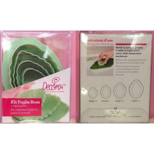Kit Cortadores Folhas de Rosa - Decora