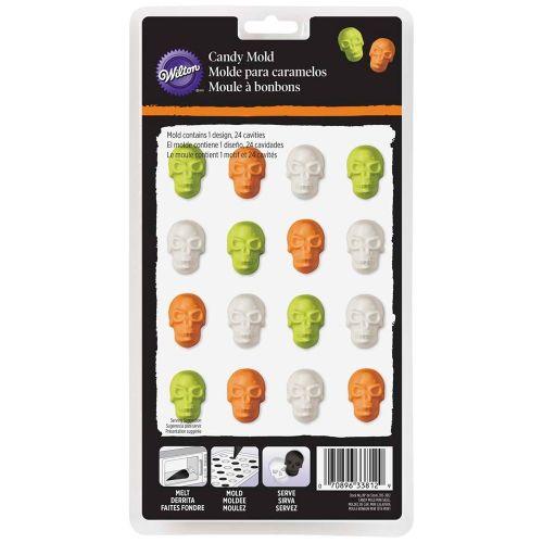Forma em PVC Candy Mold Mini Skull - Wilton