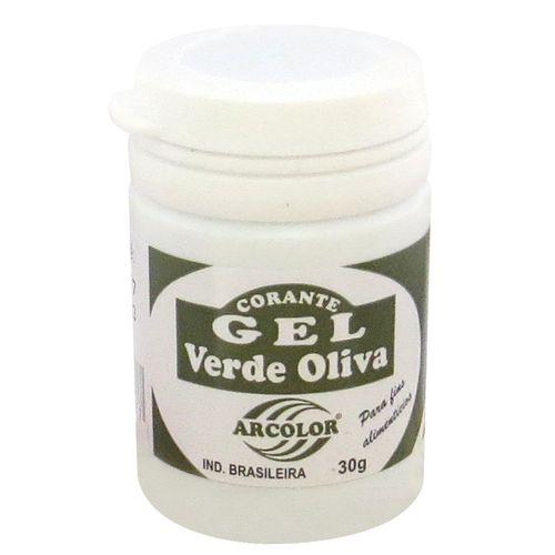 Corante gel Arcolor 30ml - Oliva
