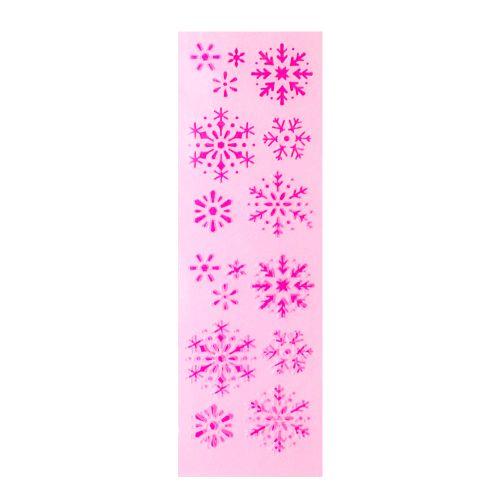 Stencil Pequeno para Decoração de Bolos (Flocos de Neve) - Celebrate