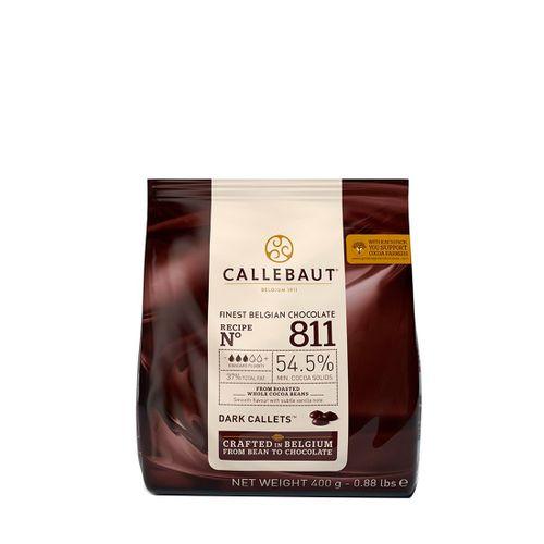 Chocolate Callebaut Amargo 54,5% Cacau nº 811 em Callets (400g) - Callebaut