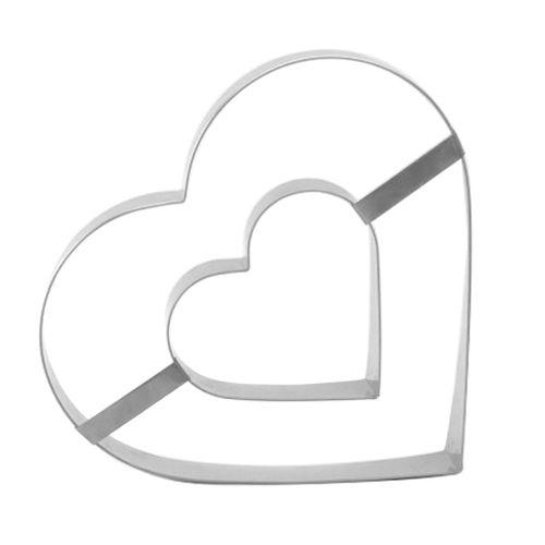 Aro Cortador Coração Duplo (33cm) - Caparroz