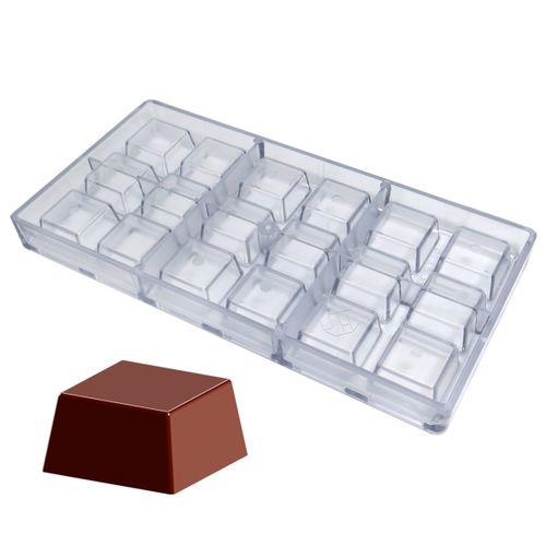 Forma de Chocolate em Policarbonato Bombom Quadrado (3,2cm) - Gramado Injetados