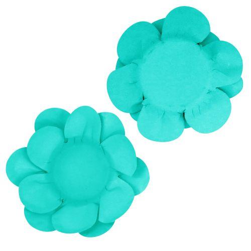 Forminha para Doce Flor Dupla Lisa (40uni) - Azul Tiffany