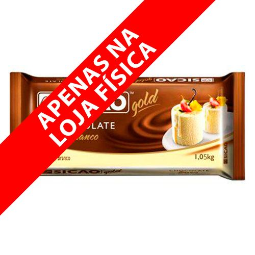 Chocolate Sicao Gold Branco Barra (1,05kg) - Sicao