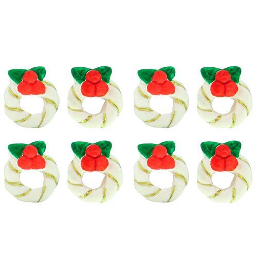 Enfeite de Natal em Açúcar Mini Guirlanda (8uni) - Jady Confeitos