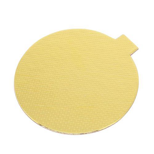 Base Laminada Redonda Dourada para Doces 7,5cm (25uni)