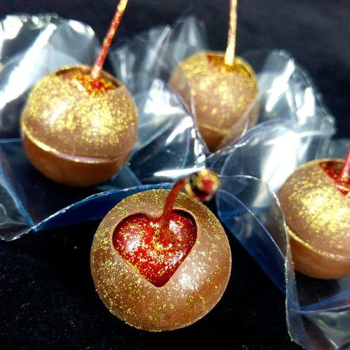 Forma de Chocolate Acetato com Silicone Esfera com Coração - BWB