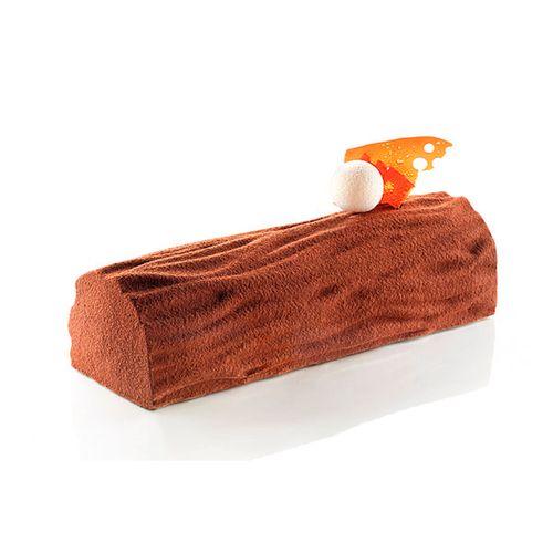 Placa de Textura em Silicone para Chocolate e Dressed Cake Wood/Tronco - Silikomart