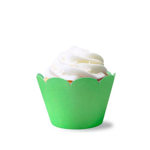 Saia de Mini Cupcake Wrapper Verde (12uni) - Mimo