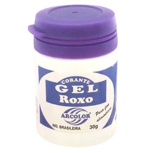 Corante gel Arcolor 30ml - Roxo