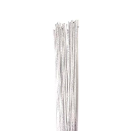 Arame para Flor Encapado Branco #24 com 40cm (50uni) - Decora