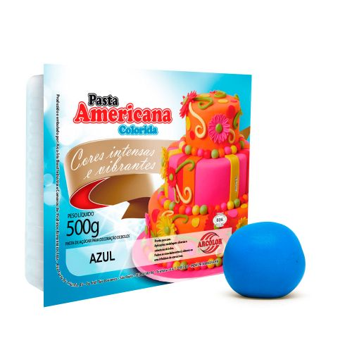 Pasta Americana Azul 500g - Arcolor