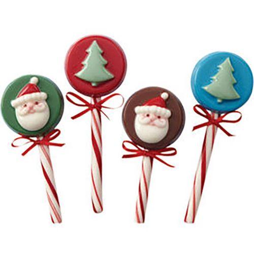 Forma de Chocolate Acetato para Biscoitos e Bombons Papai Noel e Árvore de Natal - Wilton