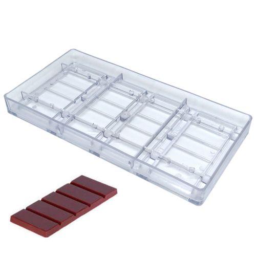 Forma de Chocolate em Policarbonato Tablete/Barra 50g - Gramado Injetados