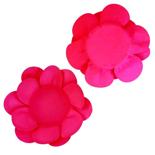 Forminha para Doce Flor Dupla Lisa (40uni) - Pink